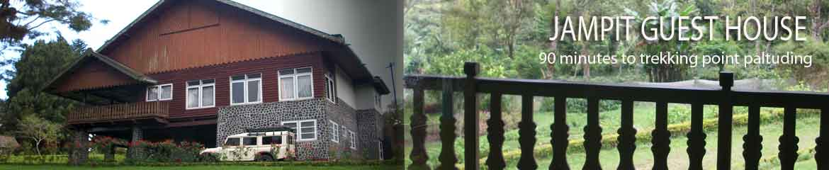 Jampit guesthouse at the Ijen Plateau in East Java