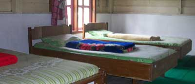 Bedroom at Paltuding trekking camp, which is situated just 3 km from Ijen crater lake